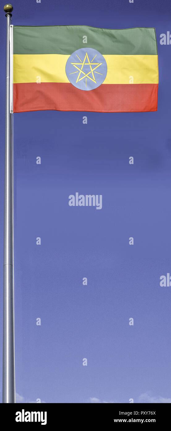 Flagge Aethiopien - Stock Image