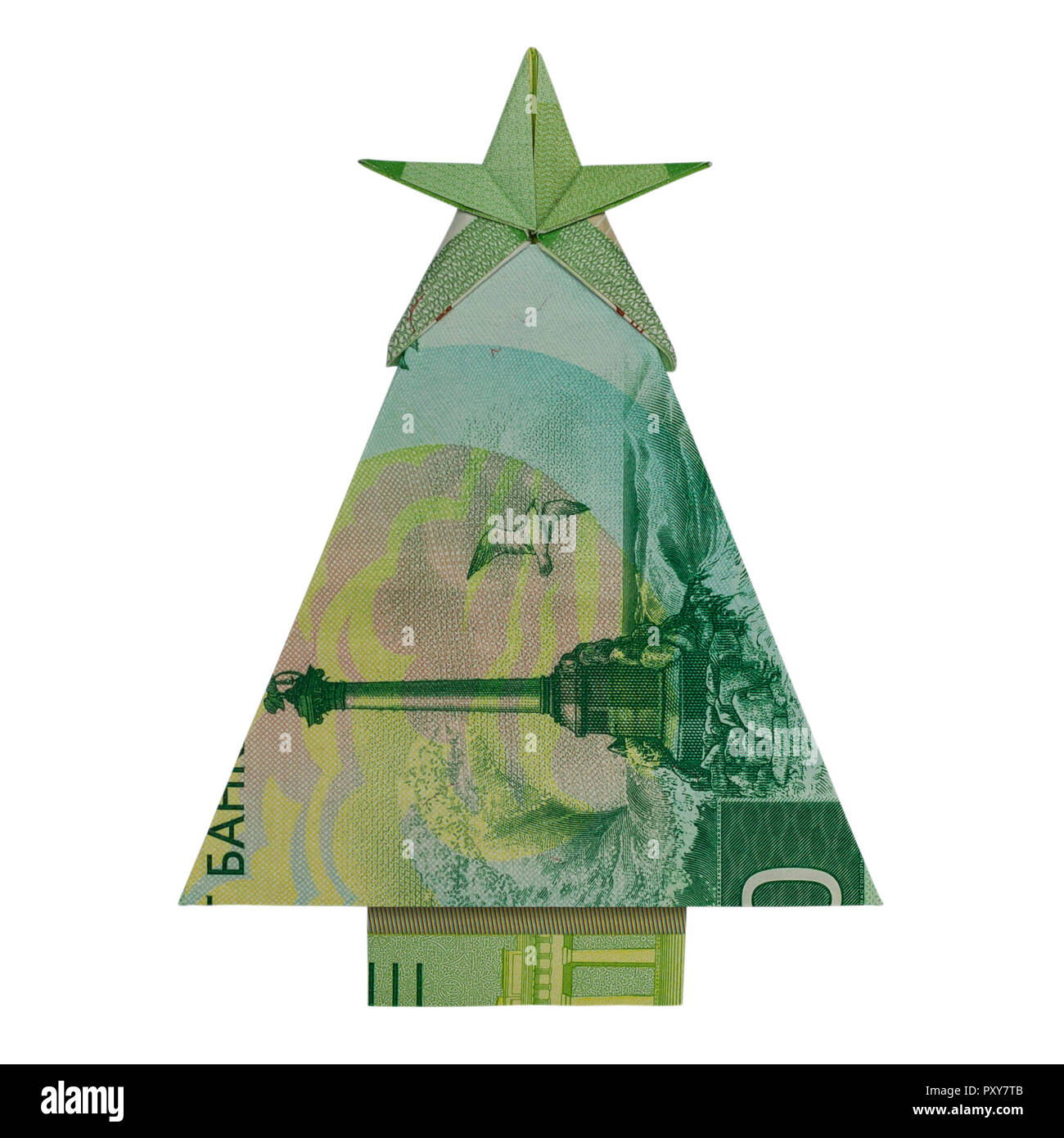 Dollar Bill Origami Christmas Tree: Money Origami CHRISTMAS TREE Folded With 200 Russian