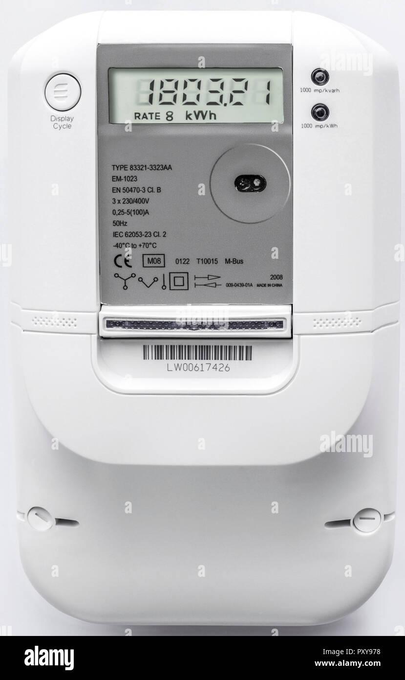 Smart Meter, elektronischer Stromzaehler - Stock Image