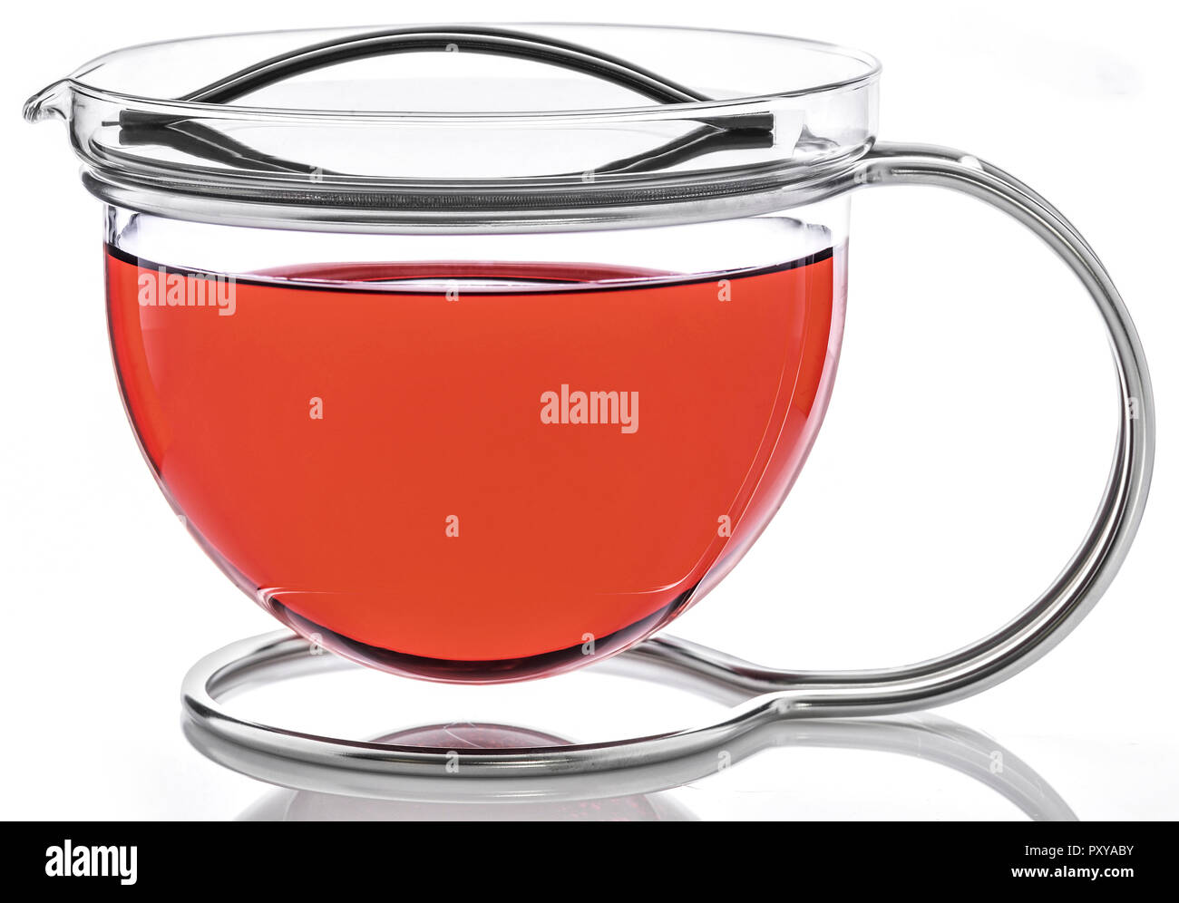 Teekanne aus Glas Stock Photo