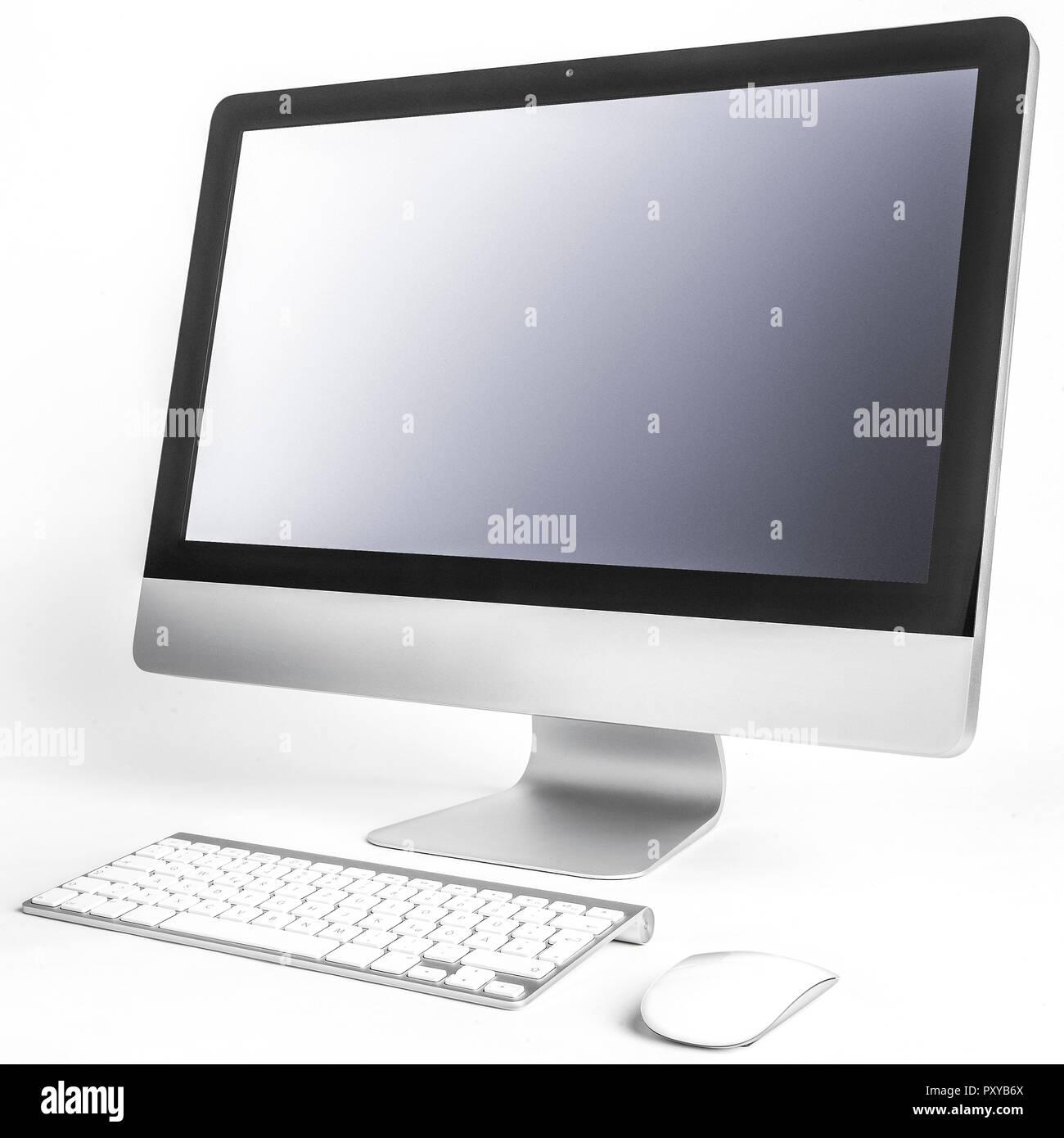 iMac, Rechner, Bildschirm, Tastatur, Mouse - Stock Image