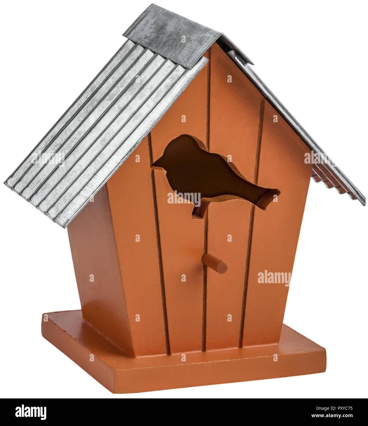 Deko-Vogelhaus - Stock Image