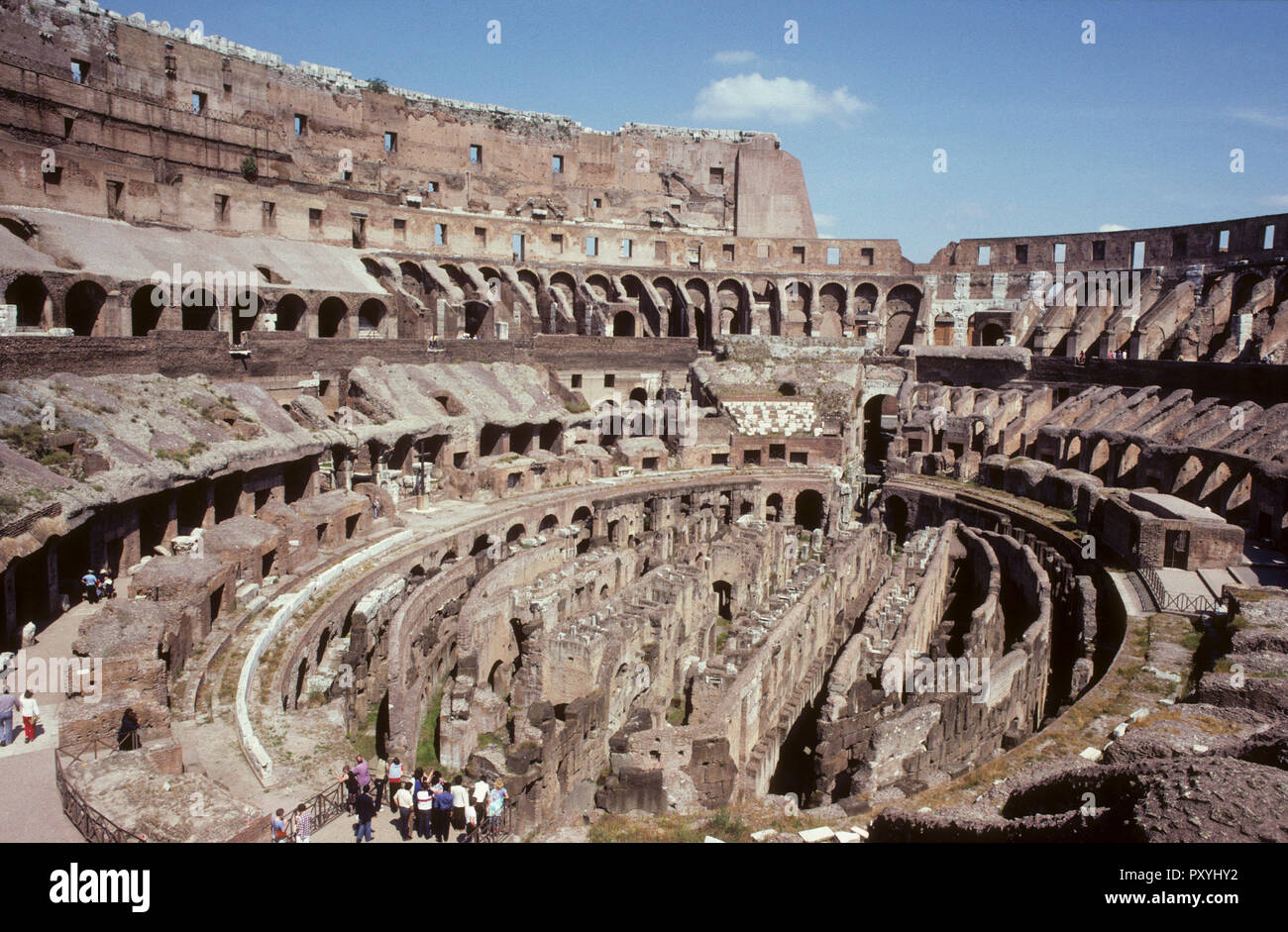 COLOSSEUM Roma Italy or the Flavian Amphitheatre is the largest amphitheatre ever built - Stock Image