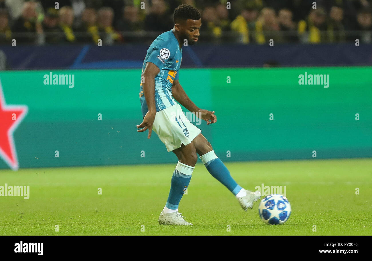 Dortmund, Germany. 24th October, 2018. Thomas Lemar (Atlético Madrid)  during the UEFA Champions League, Group A football match between Borussia Dortmund and Atletico de Madrid on October 24, 2018 at Signal Iduna Park in Dortmund, Germany - Photo Laurent Lairys / DPPI Credit: Laurent Lairys/Agence Locevaphotos/Alamy Live News Stock Photo