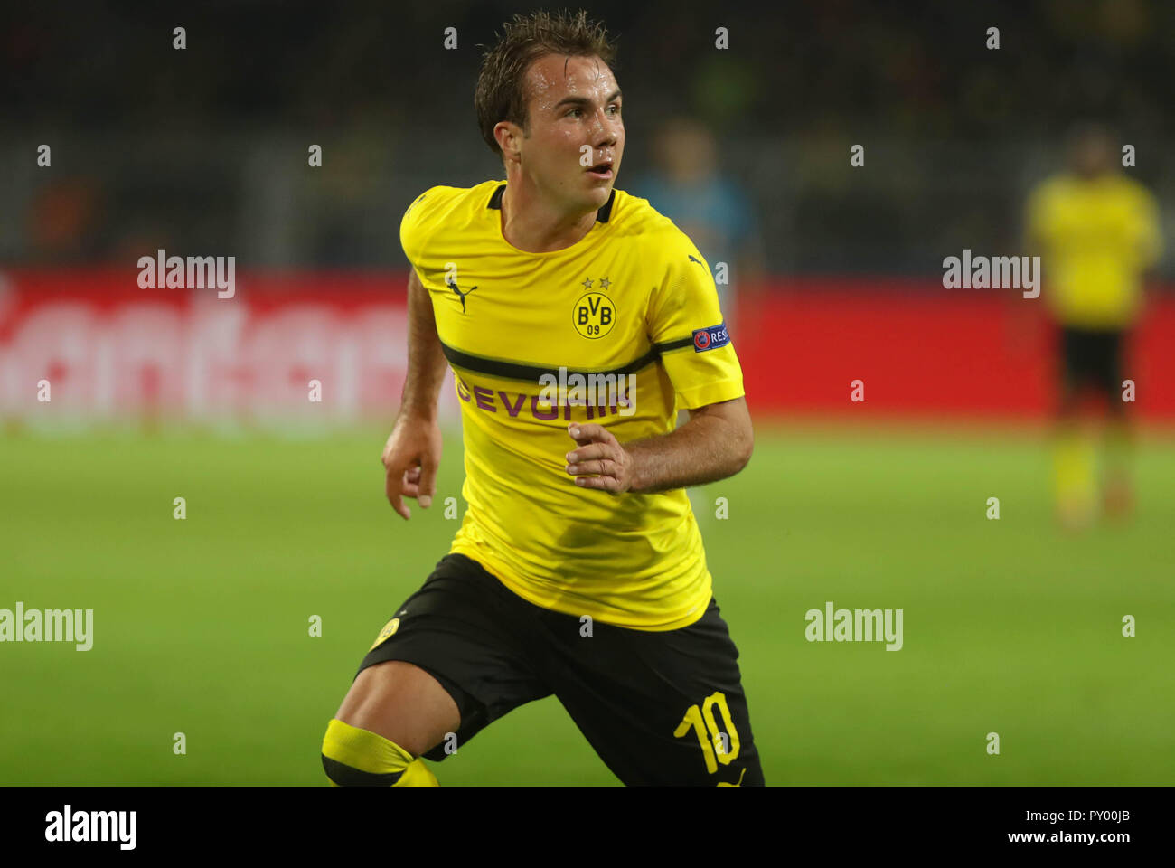 Dortmund, Germany. 24th October, 2018. Mario Gotze (Borussia Dortmund) during the UEFA Champions League, Group A football match between Borussia Dortmund and Atletico de Madrid on October 24, 2018 at Signal Iduna Park in Dortmund, Germany - Photo Laurent Lairys / DPPI Credit: Laurent Lairys/Agence Locevaphotos/Alamy Live News Stock Photo