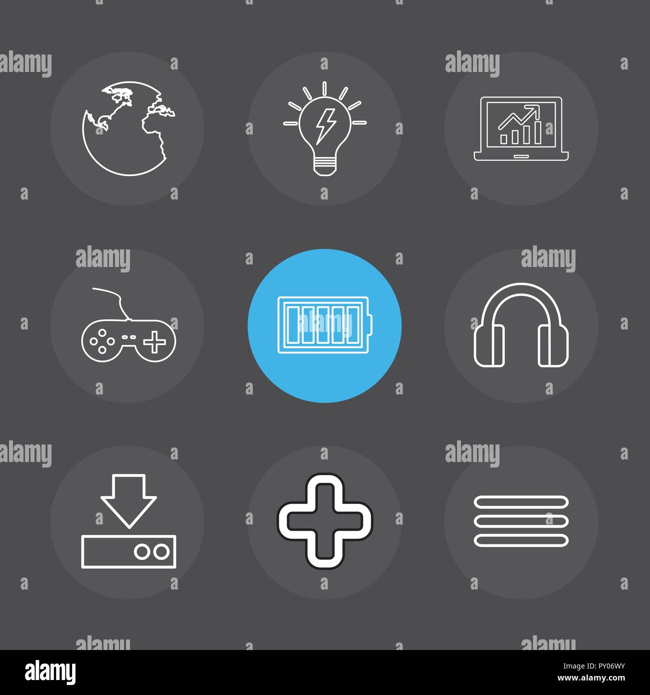 globe , world , menu , headset , plus , add , download