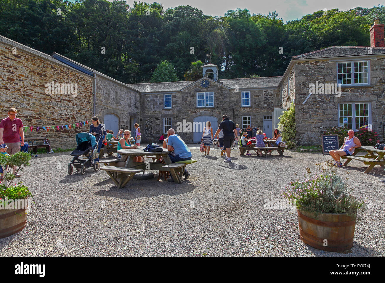 The Stables café on the Penrose Estate near to Loe bar, near to Helston, Cornwall, England, UK - Stock Image