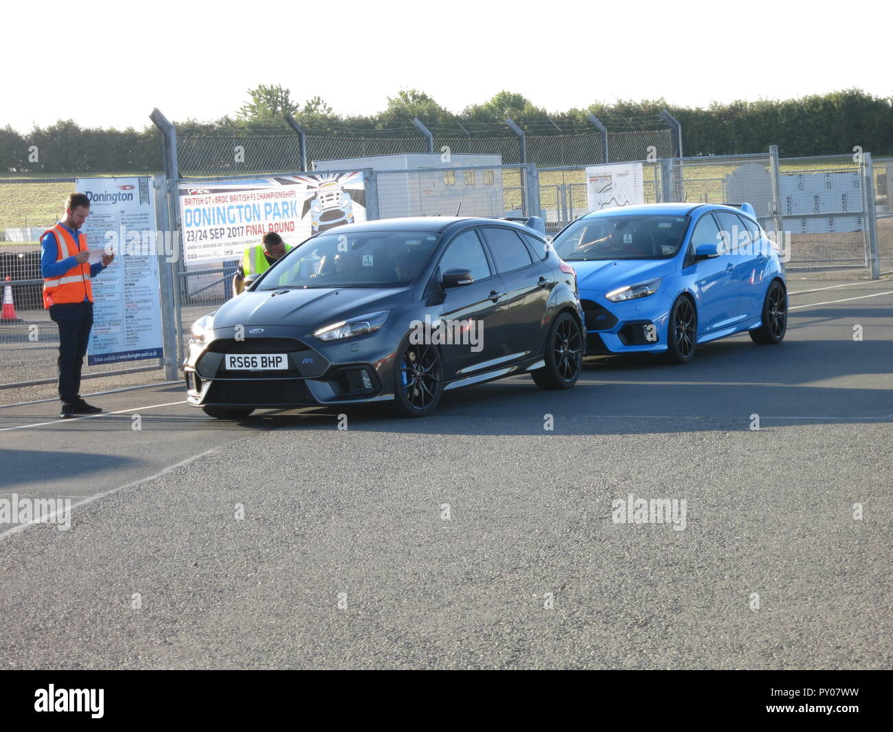Ford Focus Rs Mk3 Shown At Donnington Park Race Circuit At