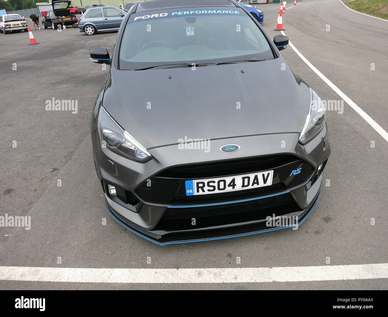 Ford Focus Rs Mk3 Modified In Grey On Show At The Rs Owners Club National Day At Donnington Park Race Circuit Showing Front View Stock Photo Alamy