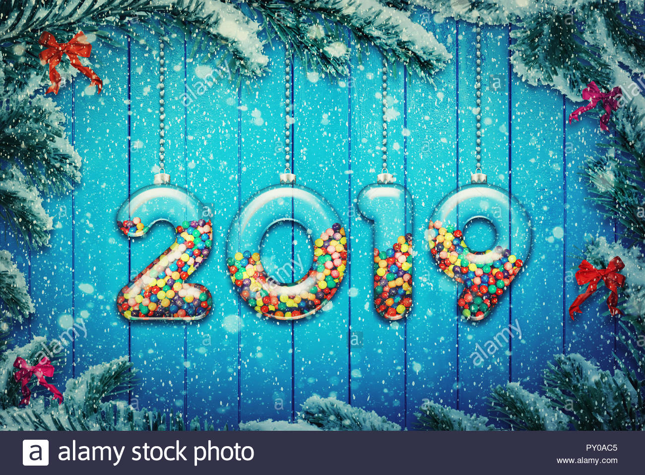 Happy New Year 2019 Stock Photos Happy New Year 2019 Stock Images