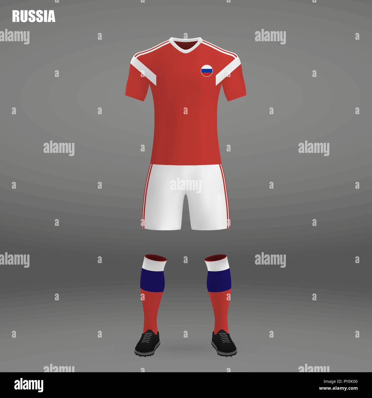 c079303a2fc football kit of Russia 2018, t-shirt template for soccer jersey. Vector  illustration