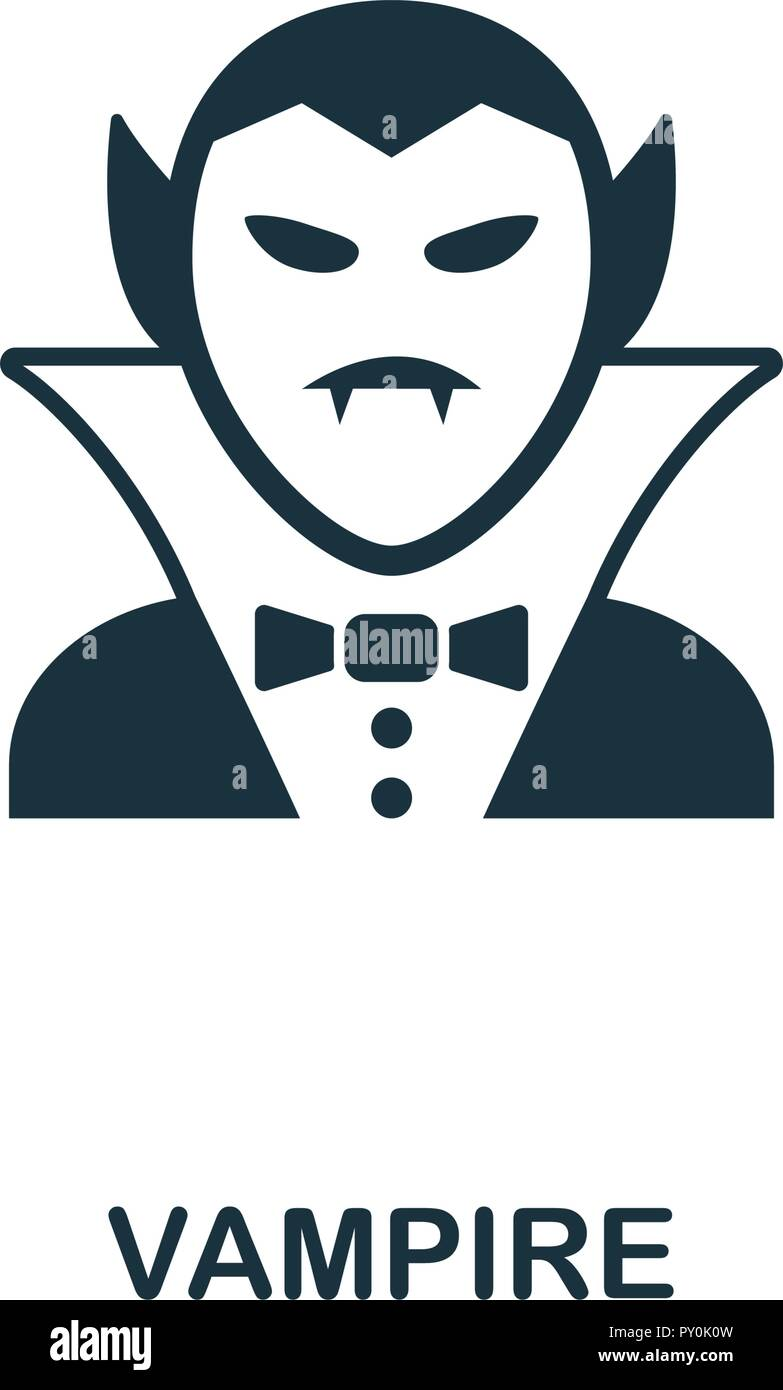 Vampire Icon Premium Style Design From Halloween Collection