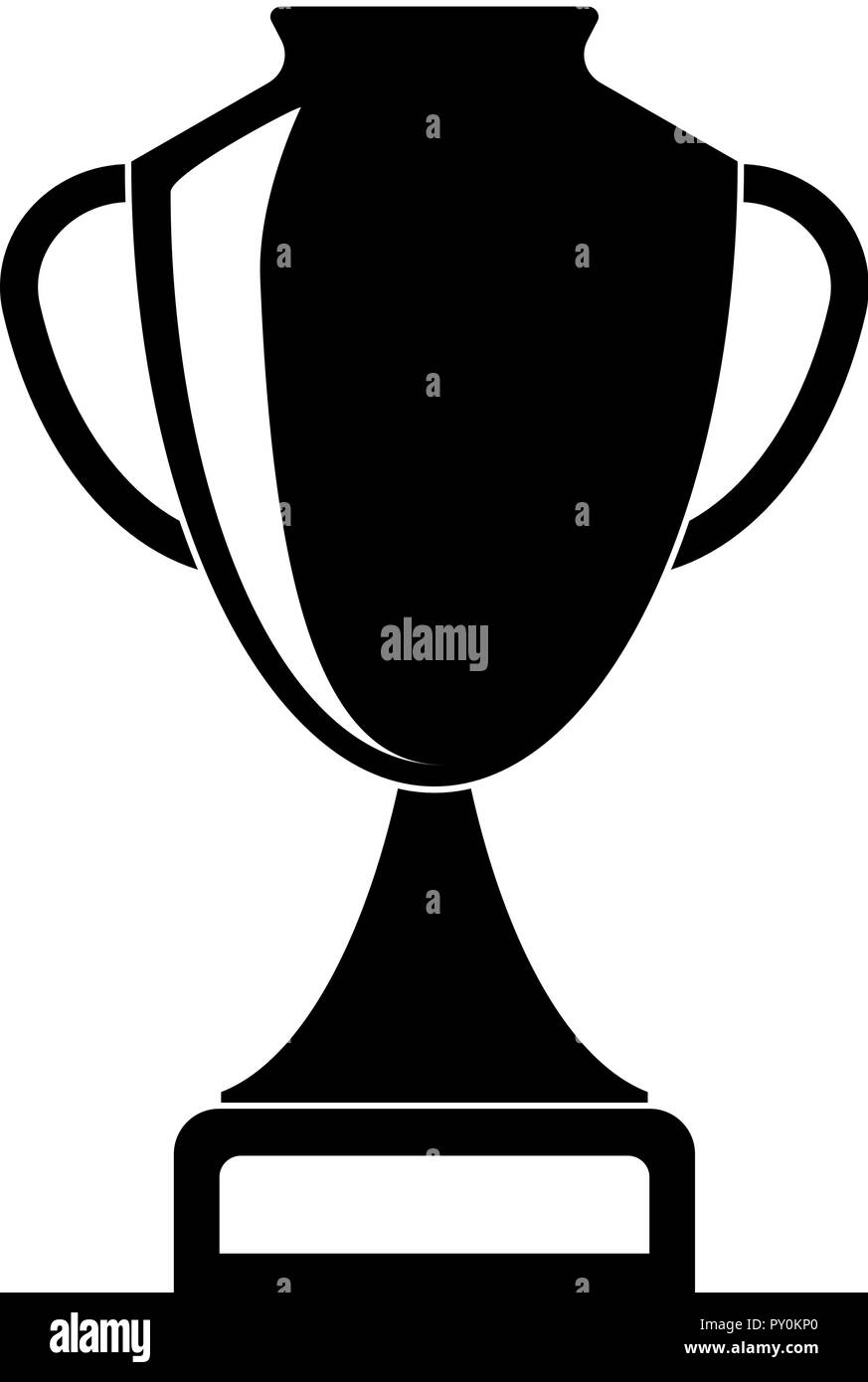 trophy cup icon vector illustration template for your design