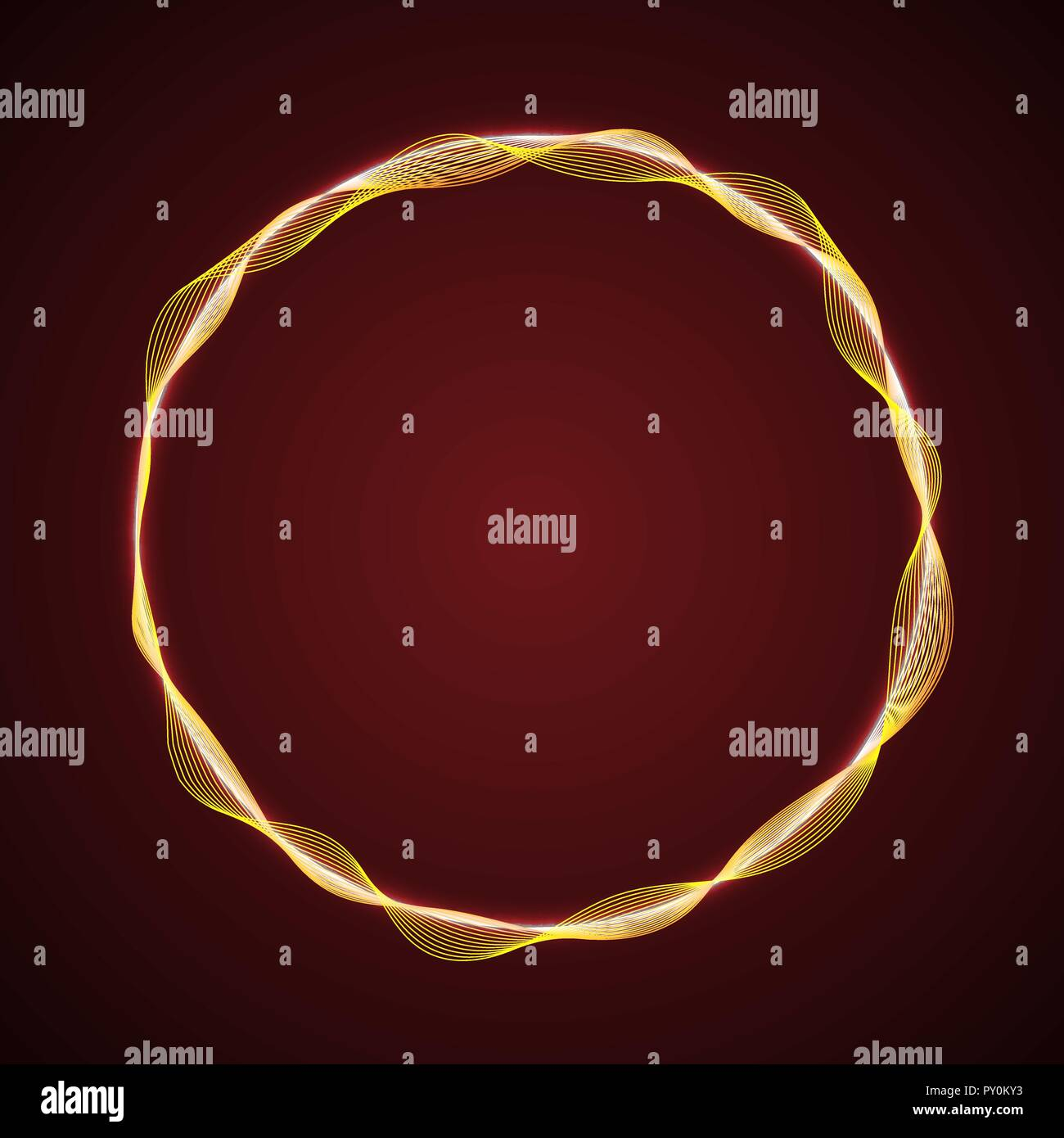 Radio Waves Diagram Stock Photos Images Radiowavesdiagram Neon Glowing Circular Shape Of Template For Your Design Image