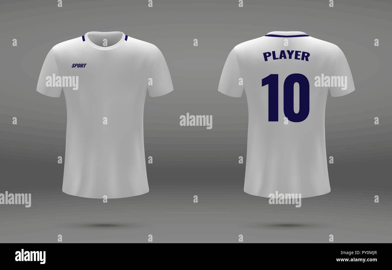 realistic soccer jersey t shirt of tottenham hotspur uniform