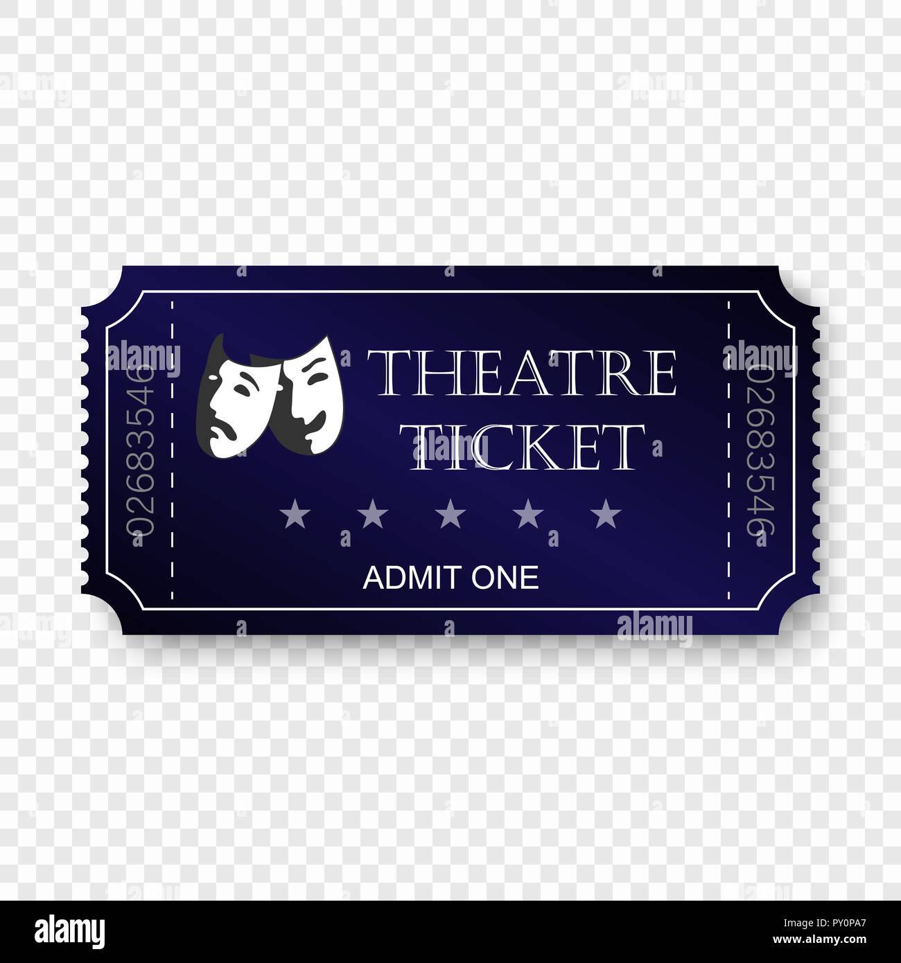 Theater Ticket Template from c8.alamy.com