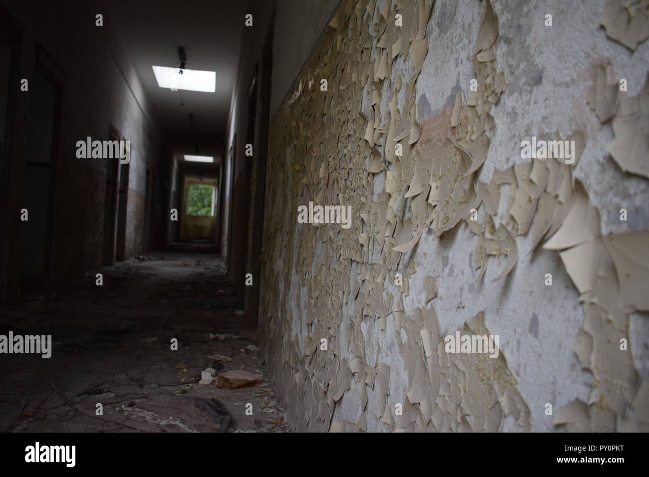 Interior of an abandoned building - Stock Image