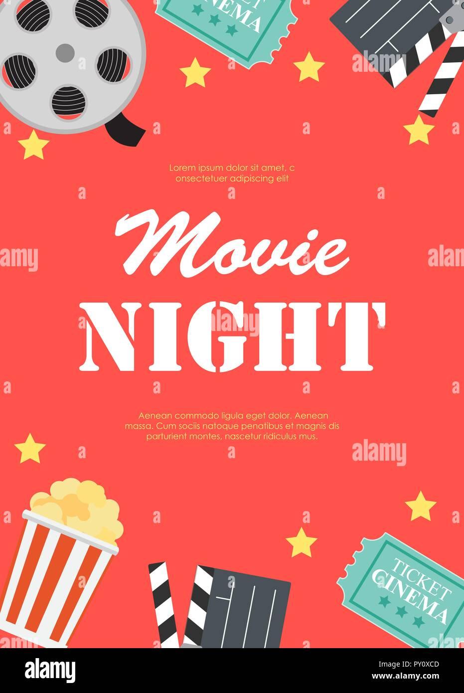 Movie Night Poster Background