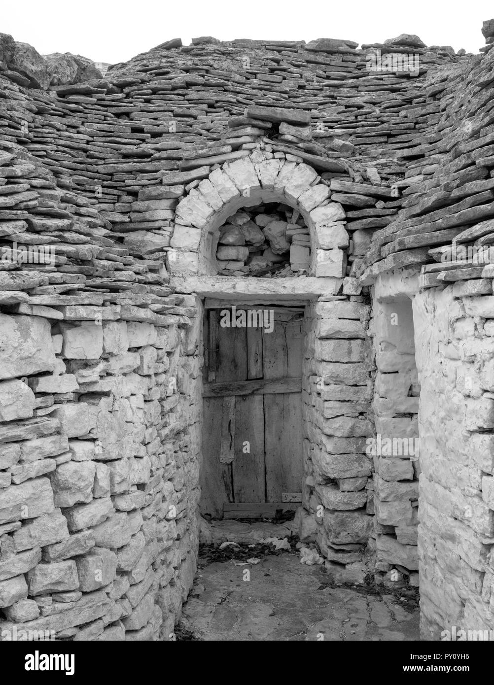 Alberobello, Italy. Conical roofed trulli house in the town of Alberobello in Puglia, Southern Italy. - Stock Image