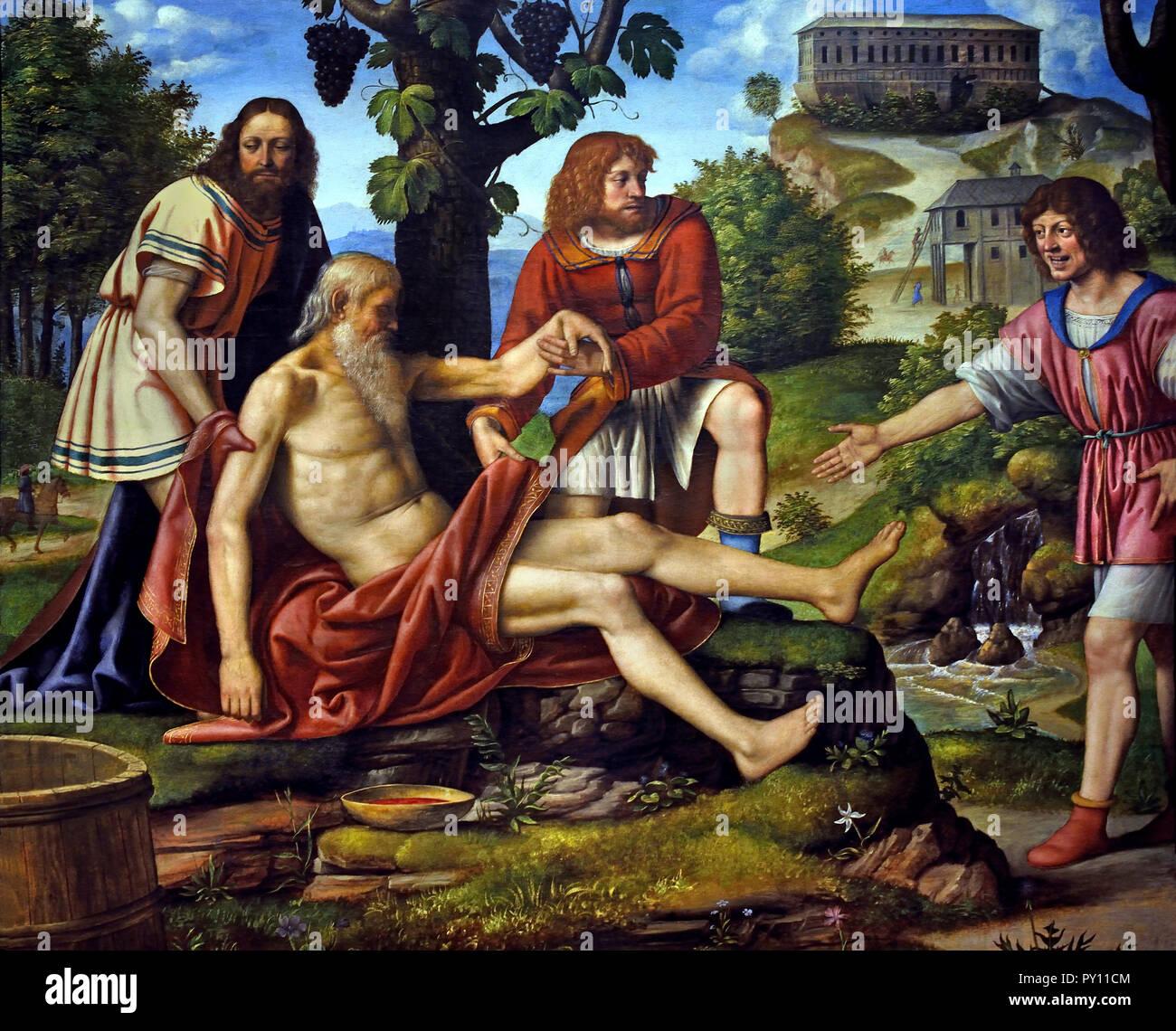 The Scorn of Cam 1510-1515 by Bernardino Luini 15-16th Century Italy, Italian. - Stock Image