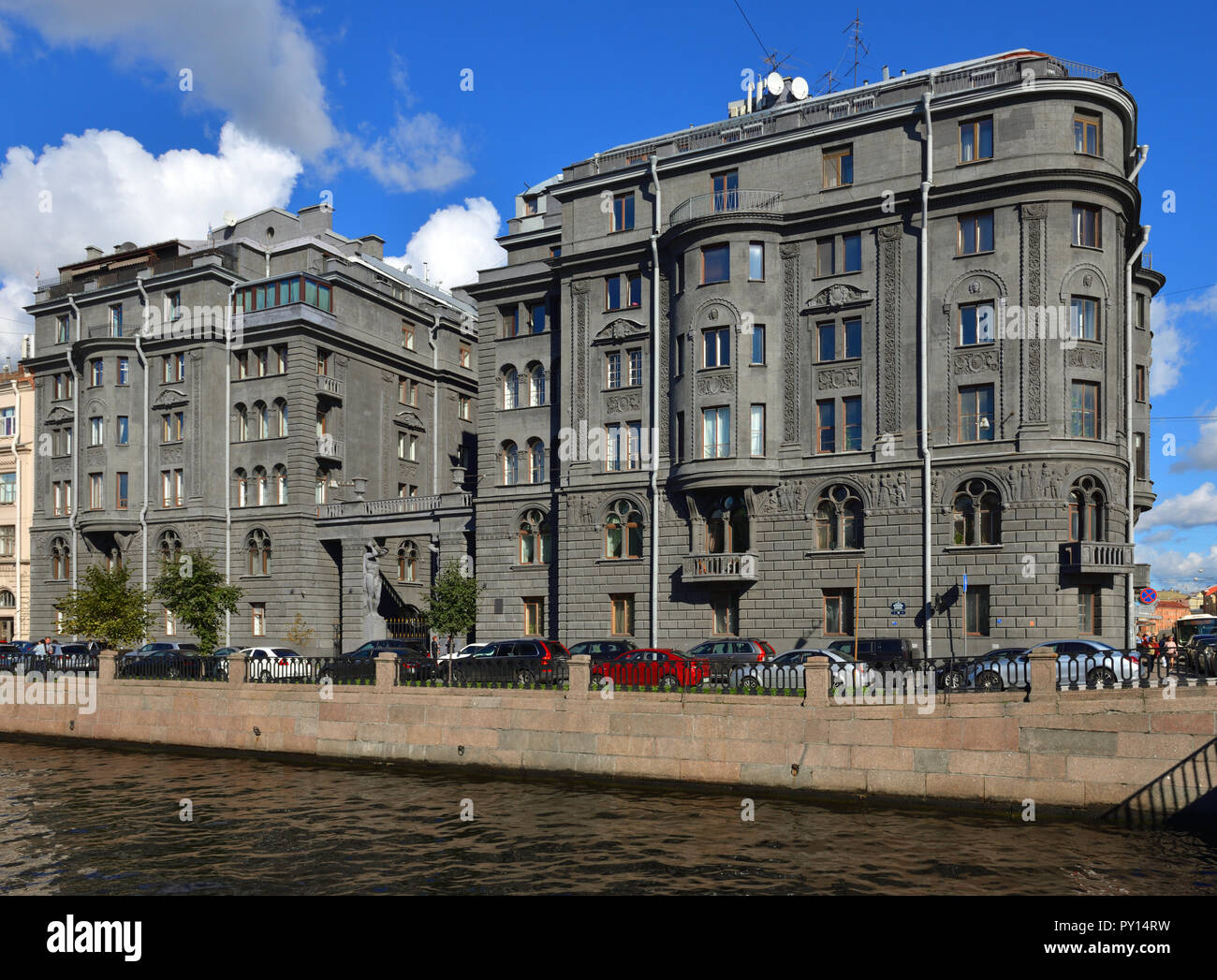 Profitable House Vege.  Built by architect Ovsyannikov in early 20th c. on Kryukov Canal Embankment - Stock Image