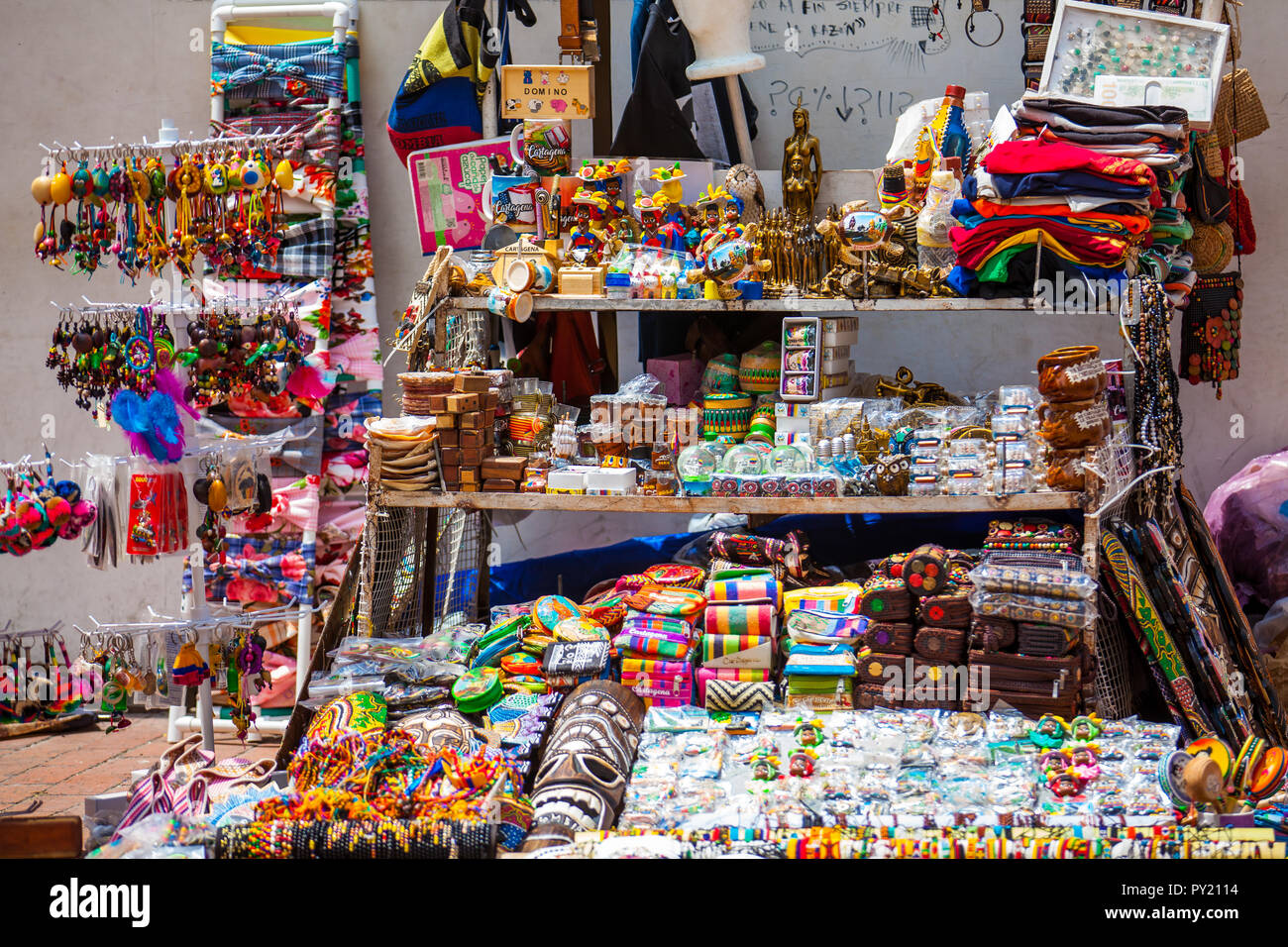Cartagena De Indias Colombia August 2018 Street Sell Of