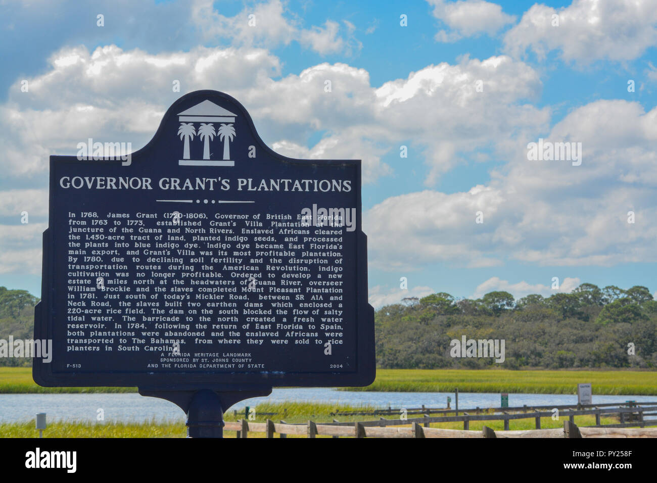 Governor Grants Plantations Landmark sign, in St Johns County, Florida - Stock Image