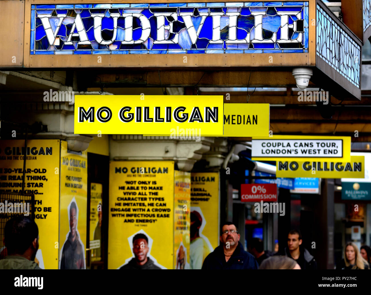 Mo Gilligan (comedian) at the Vaudeville Theatre, the Strand, London, England, UK. October 2018 - Stock Image