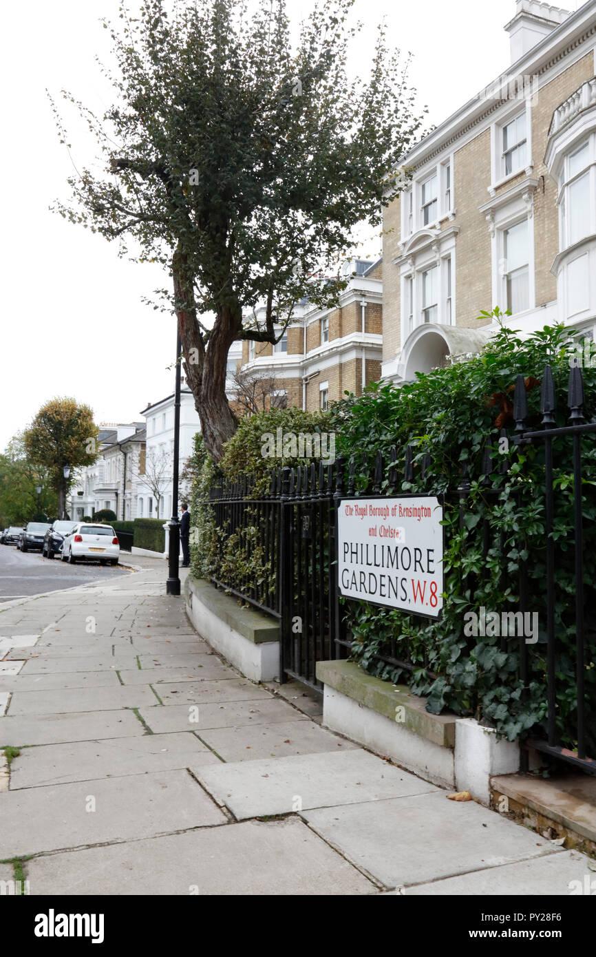 Phillimore Gardens Stock Photos & Phillimore Gardens Stock