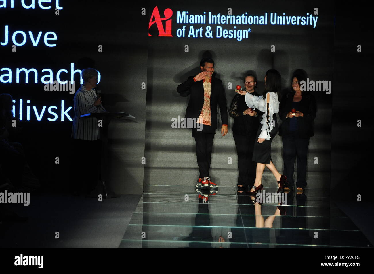 Miami Beach Fl July 12 General Atmosphere On The Runway During The Fashion Show Presented By Students Of Miami International University Of Art And Stock Photo Alamy