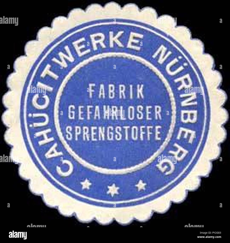 Cahücitwerke Nürnberg Siegelmarke. Stock Photo