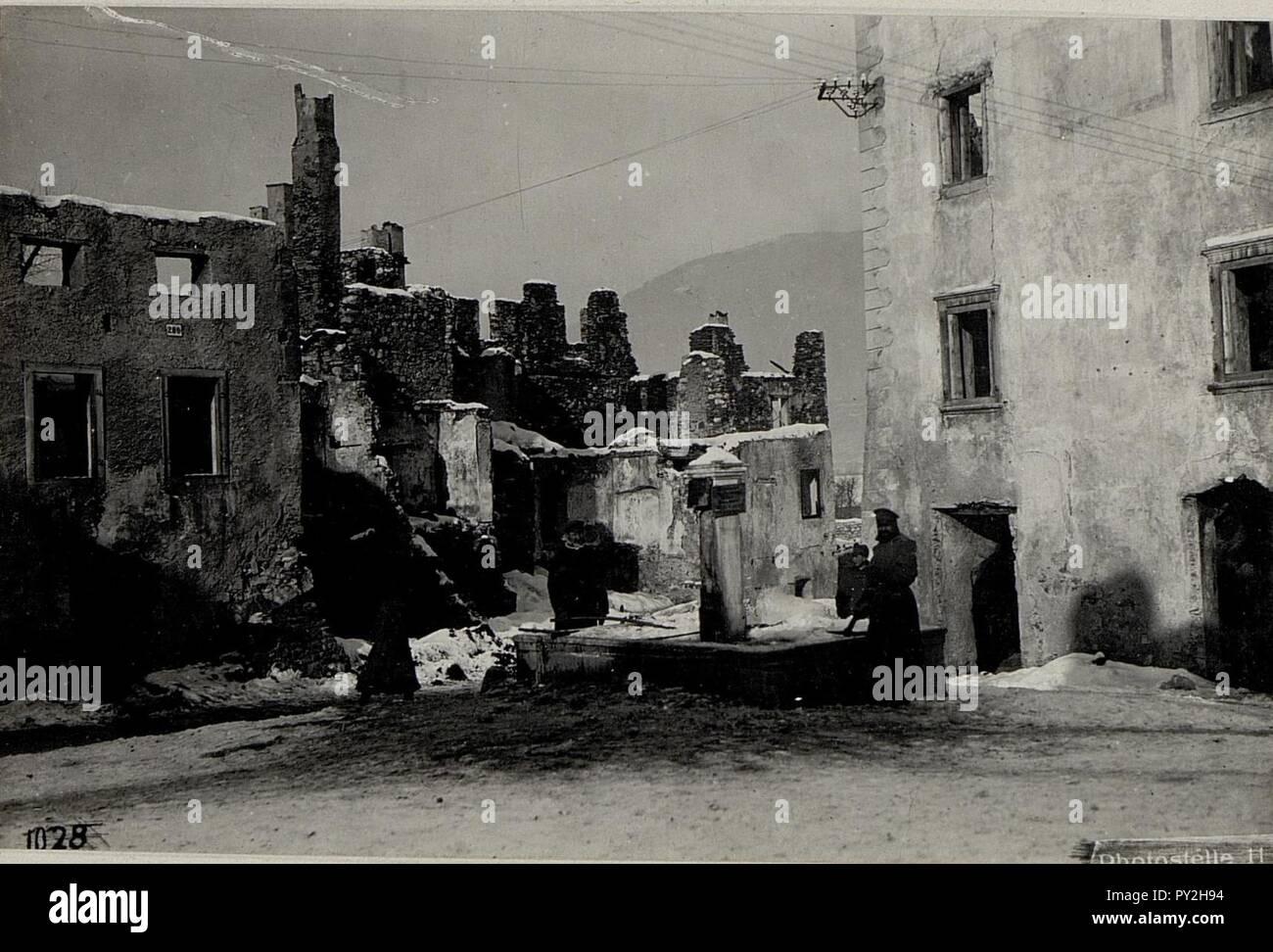 Abgebrannte Häuser.   Stock Image