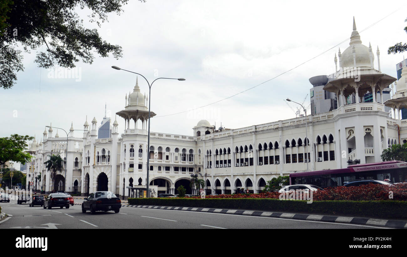 The old KL railway station building in Kuala Lumpur. - Stock Image
