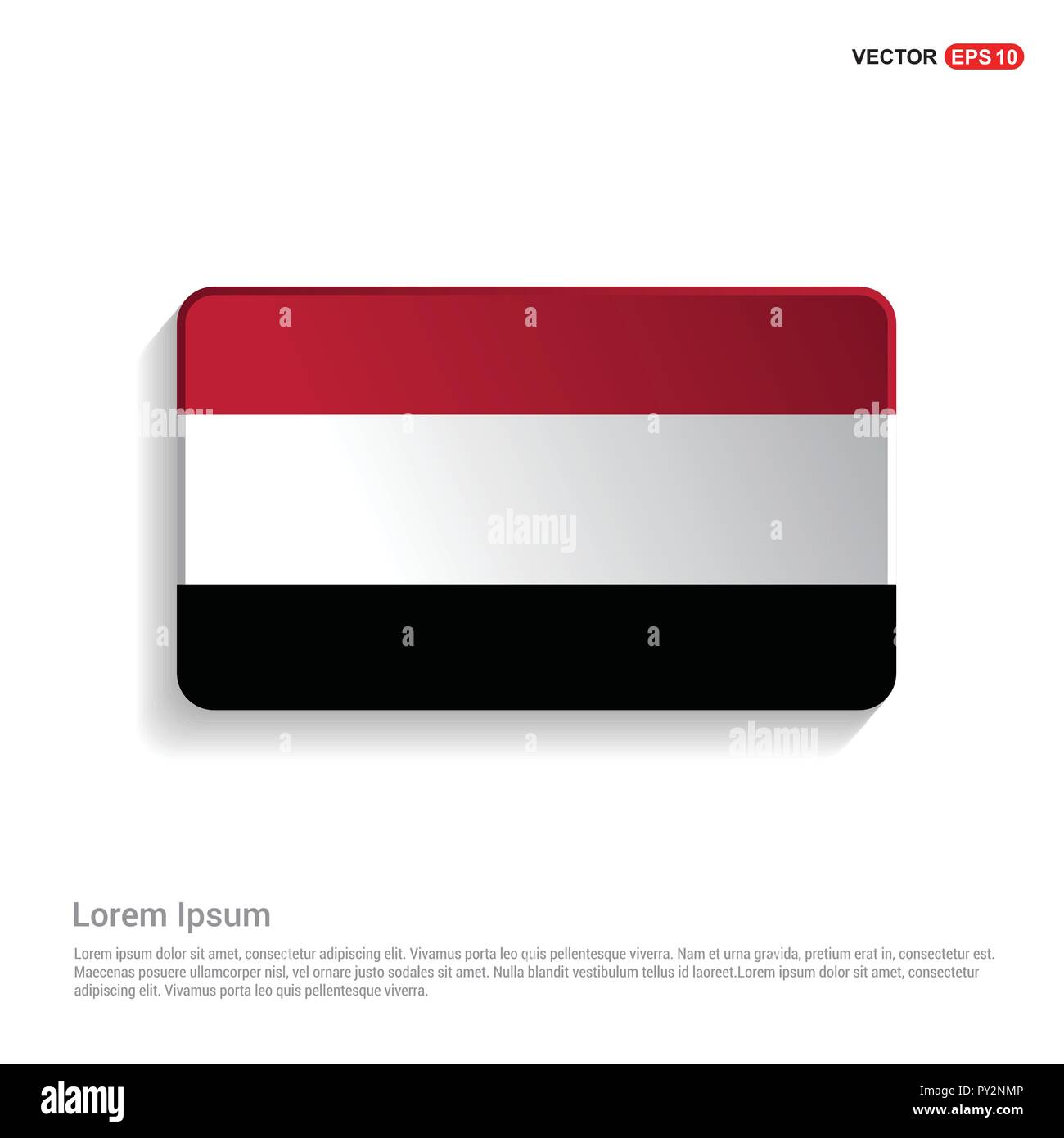Yemen flag design vector - Stock Vector