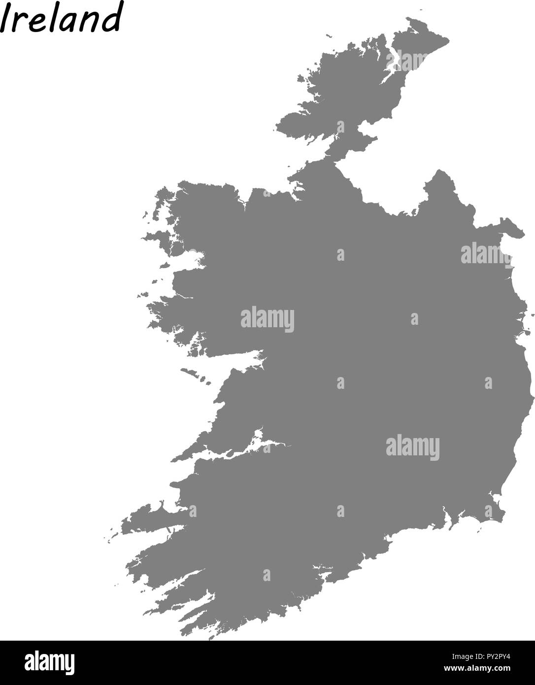 High Quality Map Of Ireland.High Quality Map Of Ireland Vector Illustration Stock