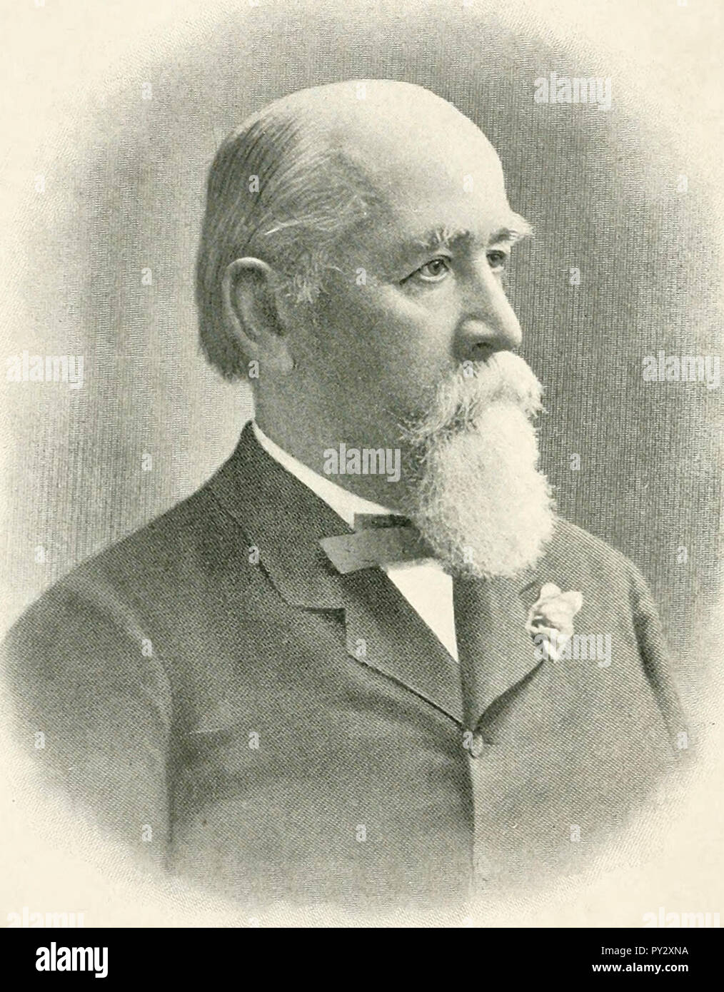 Portrait of Charles Eugene Flandrau, American lawyer who served on the Minnesota Supreme Court. He was also a colonel in the Union Army, circa 1900 - Stock Image
