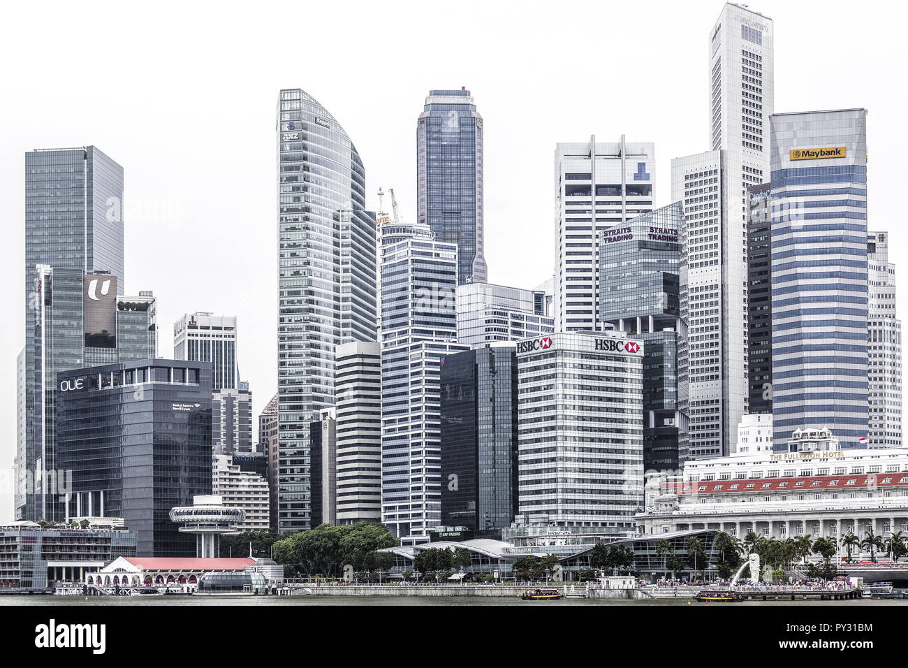Singapur, Skyline - Stock Image