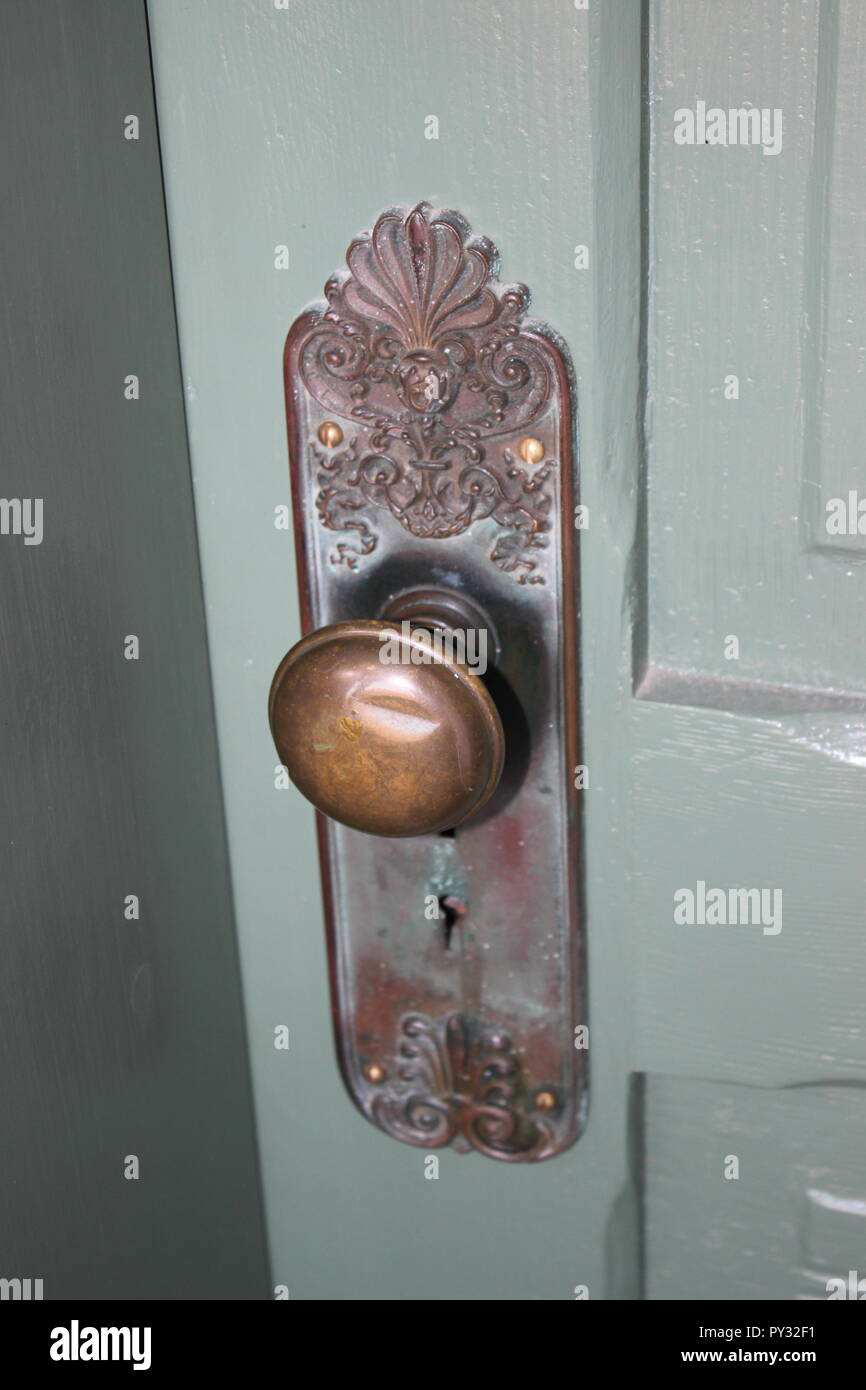 antique door knob style - Stock Image