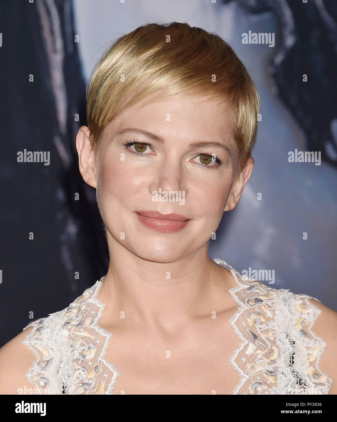 dbd254e97c8 MICHELLE WILLIAMS American film actress at the Premiere Of Columbia  Pictures   Venom  at Regency Village Theatre on October 1