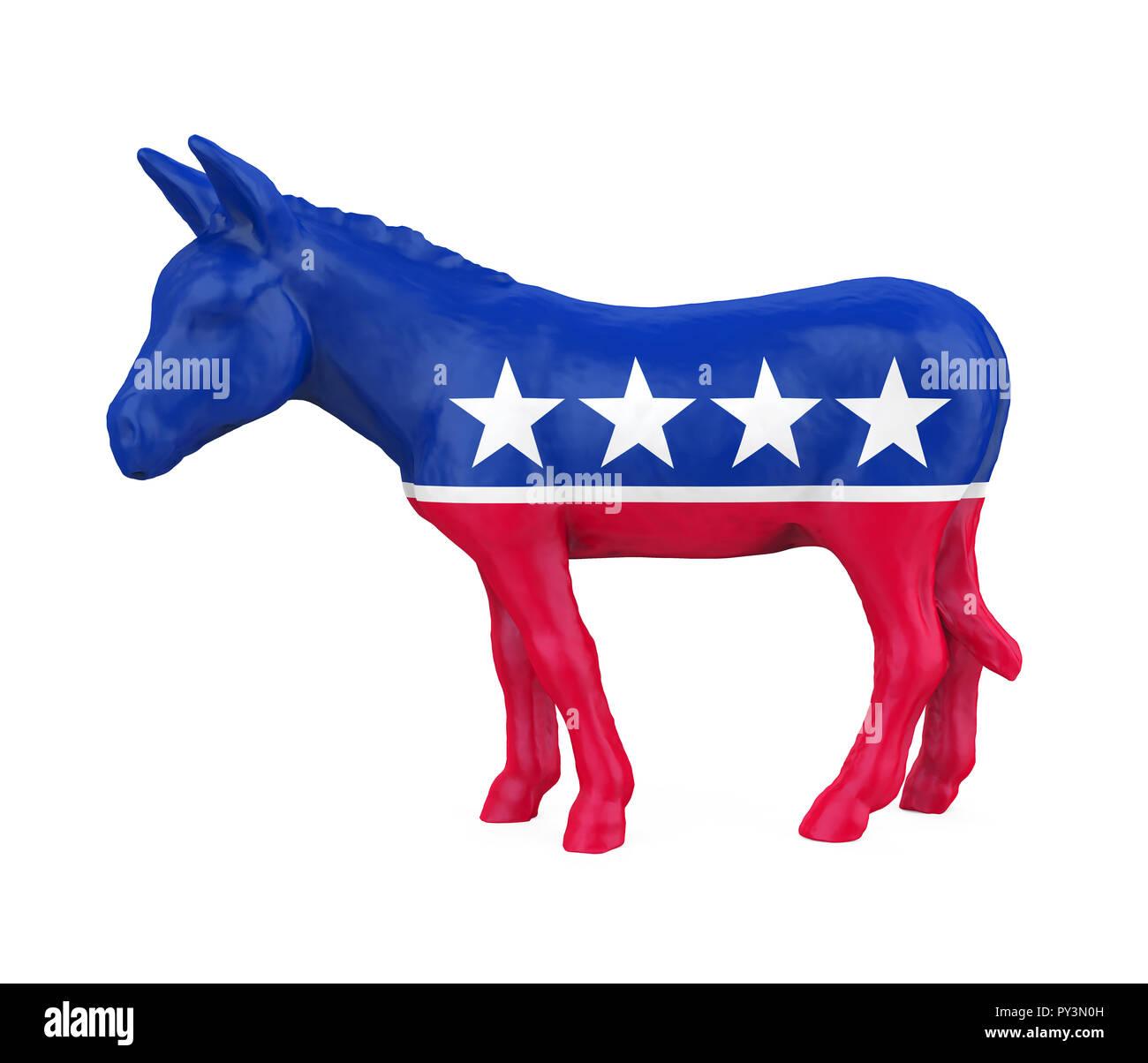 Democratic Donkey Isolated - Stock Image