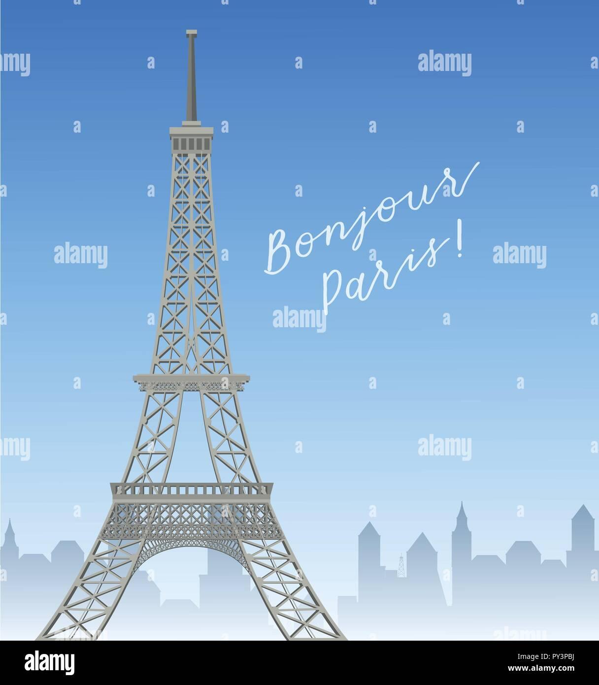 Eiffel Tower In Paris illustration - Stock Vector