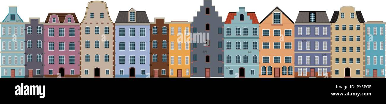A traditional dutch house illustration - Stock Vector