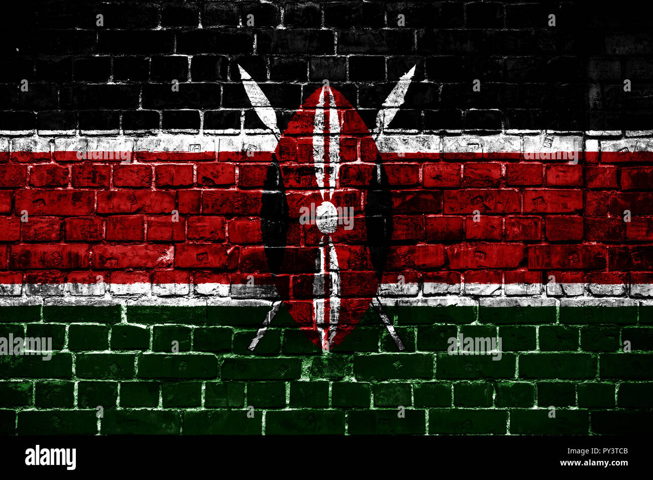 National Flag Of Kenya On A Brick Background Concept Image For Kenya Language People And Culture Stock Photo Alamy