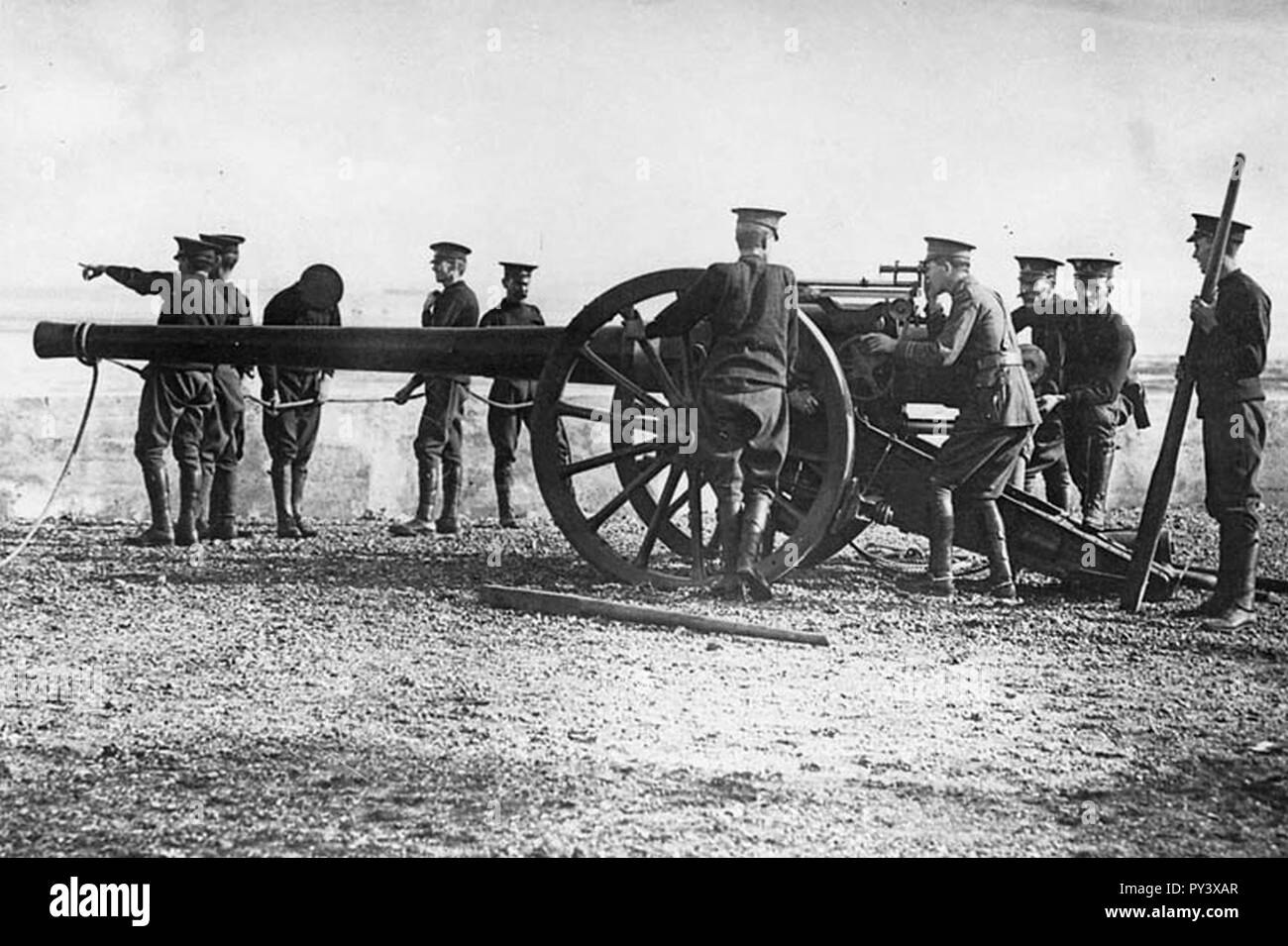 Canadian 4.7 inch gun 1915 A022703. - Stock Image