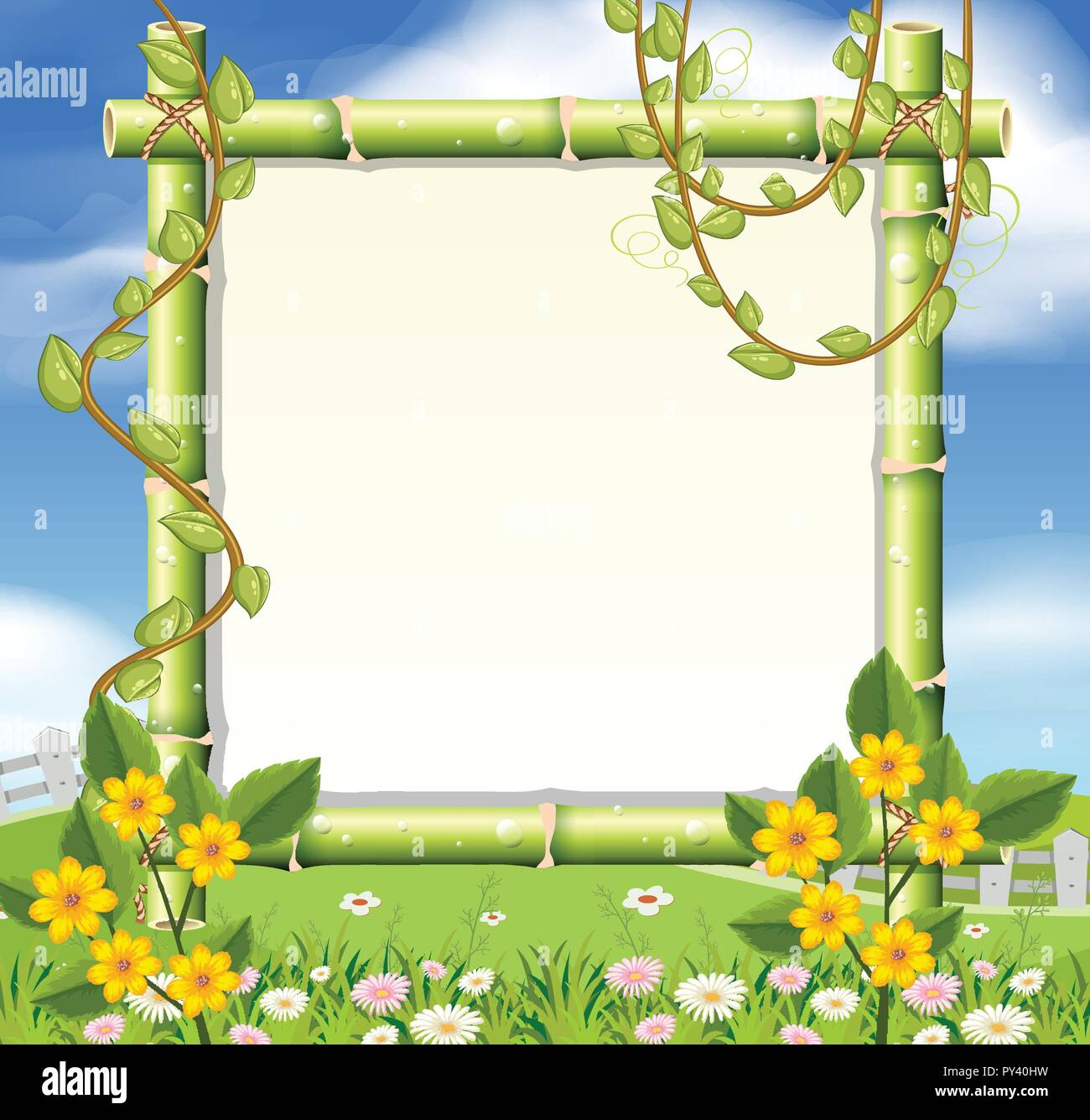 a beautiful nature frame illustration stock vector image art alamy https www alamy com a beautiful nature frame illustration image223208437 html