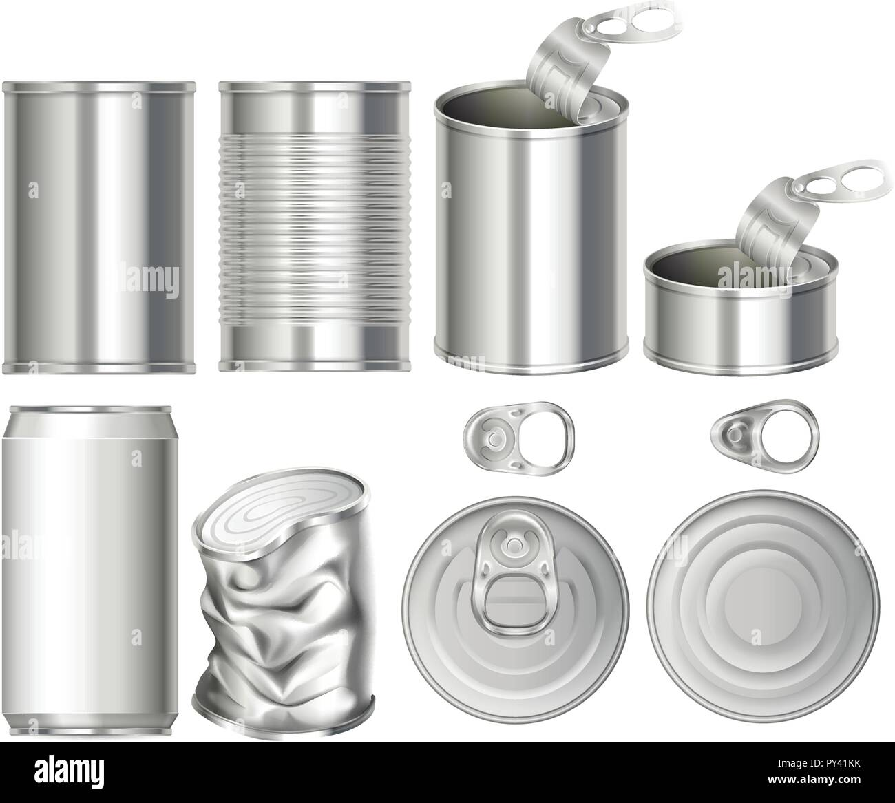 A Set of Can Container illustration - Stock Image