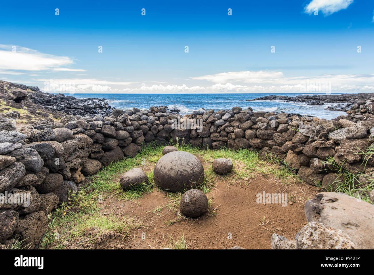 Te-Pito-Te-Henua the magic stone Stock Photo