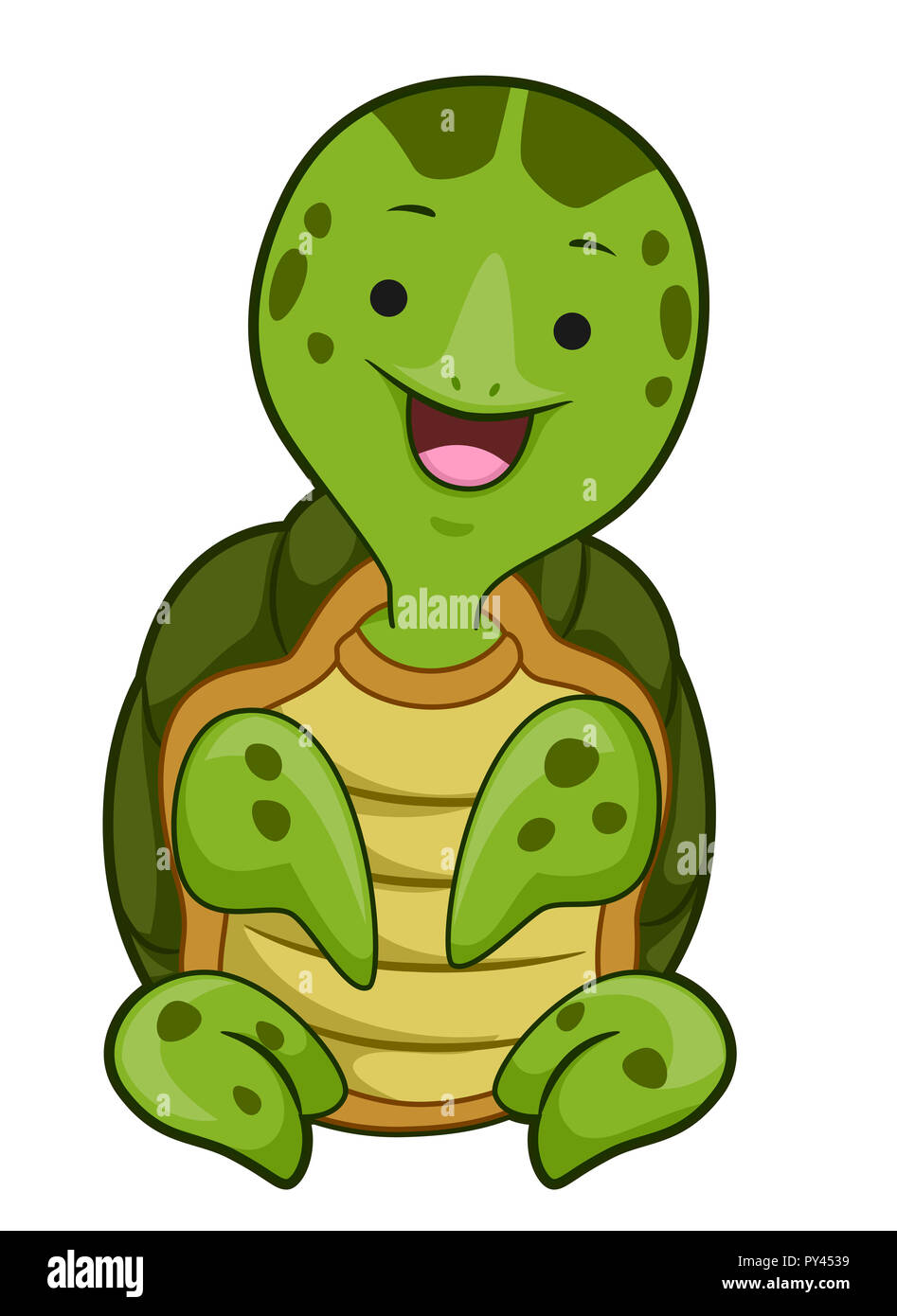 Cartoon Smiling Turtle High Resolution Stock Photography And