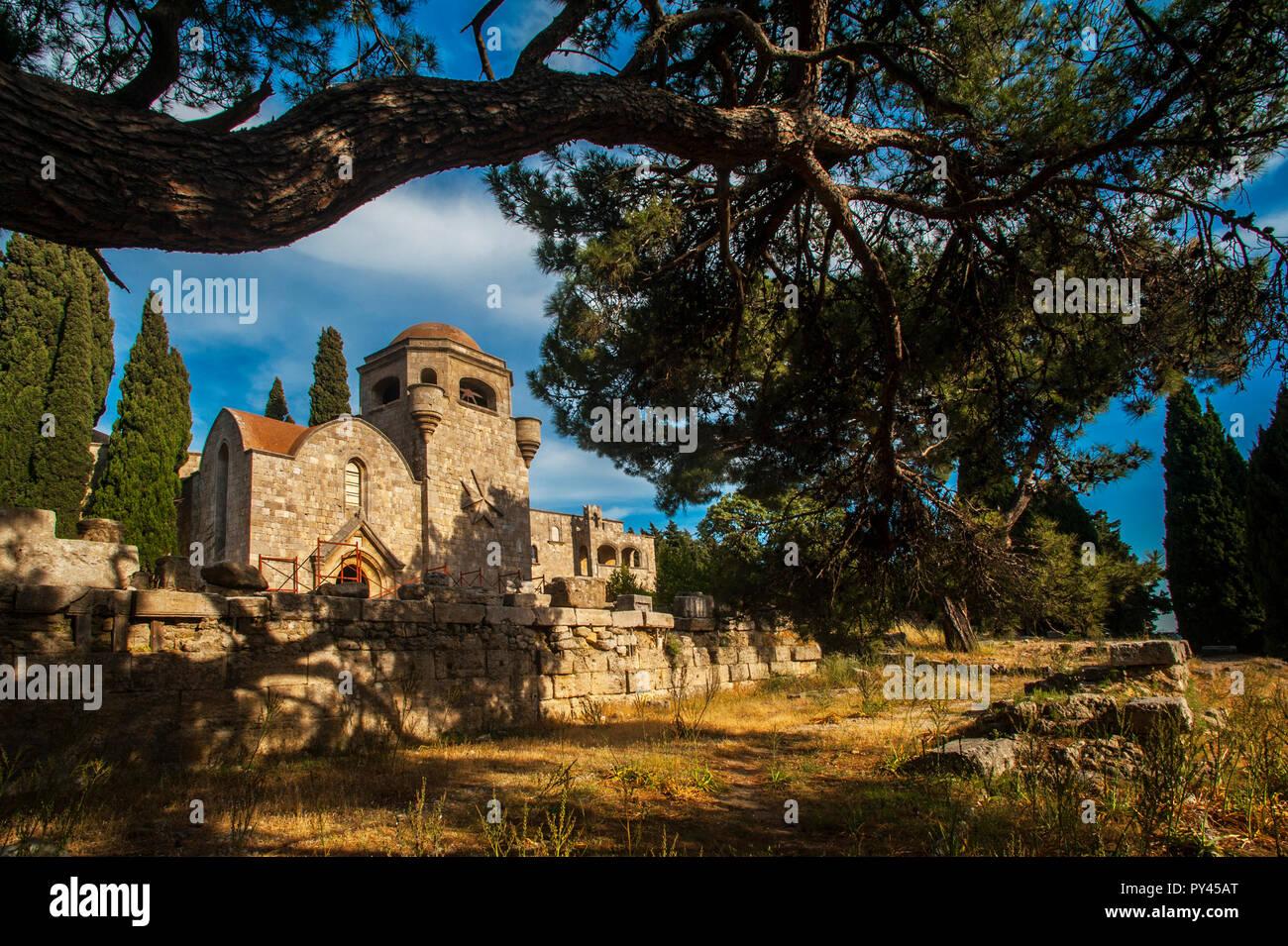 europe, greece, dodecanese, rhodes, filerimos - Stock Image