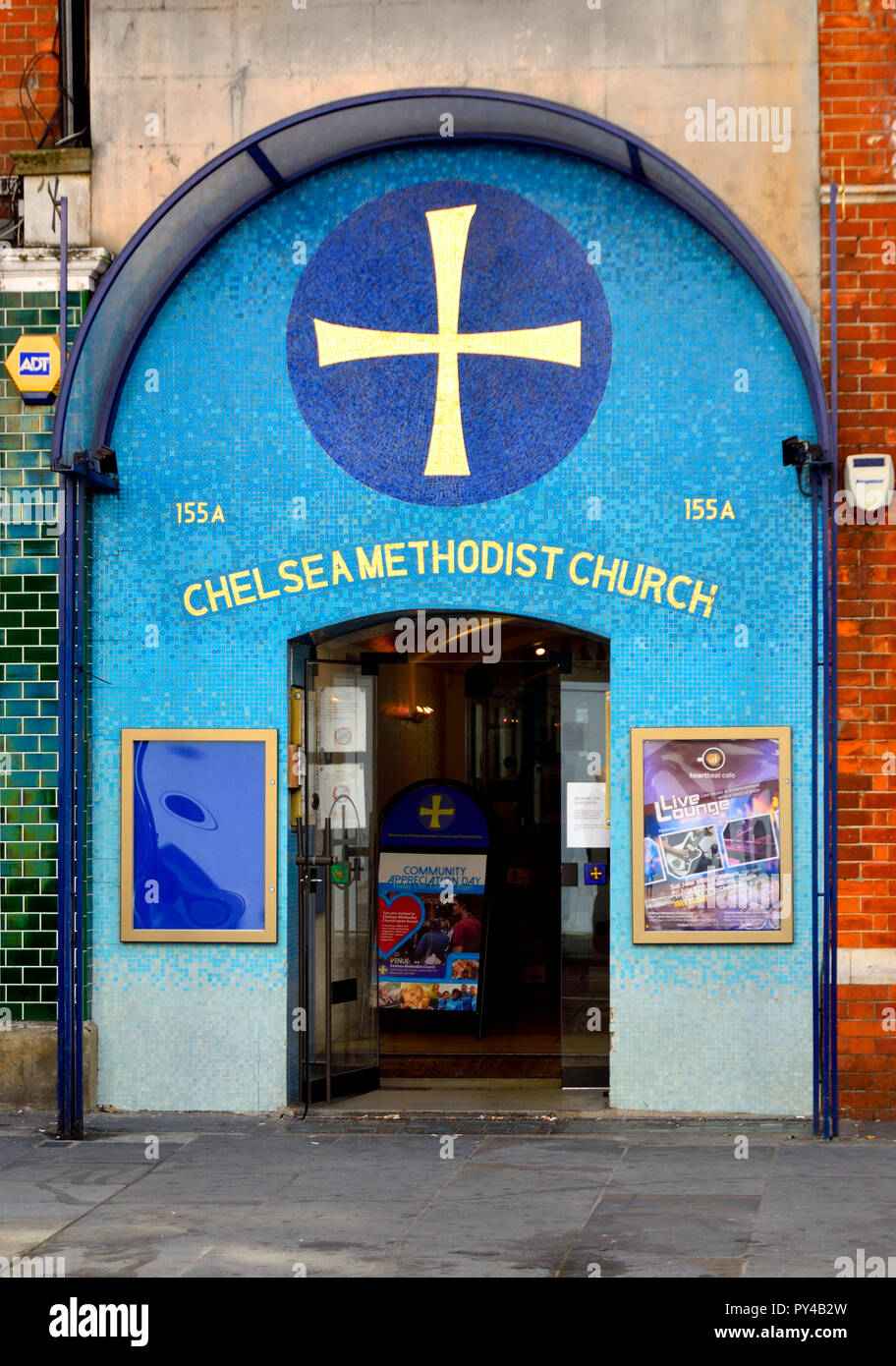 Chelsea Methodist Church and Pastoral Centre, King's Road, London, England, UK. - Stock Image